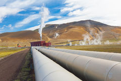 Geothermal plant Royalty Free Stock Photography