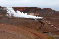 Geothermal plant royalty free stock photos