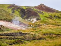 Geothermal Pocket in Southern Iceland Royalty Free Stock Images