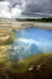 Geothermal pool. Blue / green geothermal pool, Geysir area Iceland Stock Photos