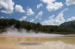 Geothermal pool. Champagne pool, Waiotapu, New Zealand Royalty Free Stock Photo