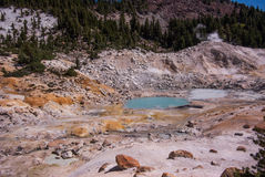 Geothermal Pool in Bumpass Hell Royalty Free Stock Photos