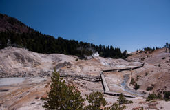 Geothermal Pool in Bumpass Hell Stock Image