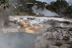 Geothermal pool. In Rotorua New Zealand Stock Photography