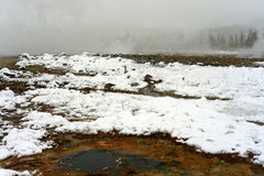 Geothermal pool Yellowstone Wyoming Royalty Free Stock Images