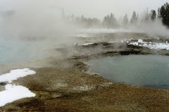 Geothermal pool Yellowstone Wyoming Stock Image