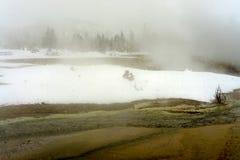 Geothermal pool Yellowstone Wyoming Royalty Free Stock Photo