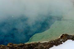 Geothermal pool Yellowstone Wyoming Stock Photos