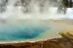 Geothermal pool Yellowstone Wyoming Royalty Free Stock Image