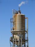 Geothermal power. Geothermal heat exchanger at Blundel Geothermal Plant, Utah Stock Photos
