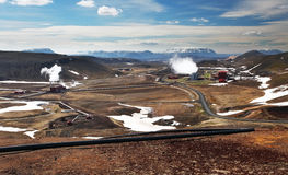Geothermal power energy station Stock Image