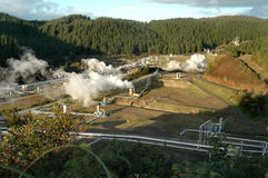 Geothermal Power Field Stock Photo