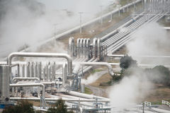 Geothermal Power Generation Stock Image