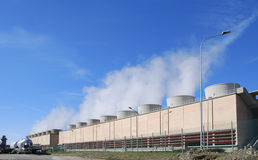 Geothermal power plant. In Larderello (Tuscany - Italy Royalty Free Stock Photo