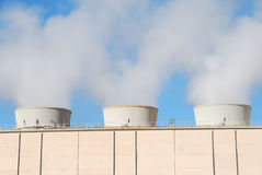 Geothermal power plant Stock Image