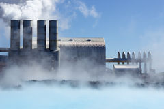 Geothermal Power Plant Stock Photography