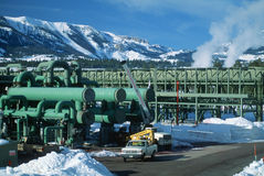 Geothermal power plant, CA Royalty Free Stock Photo