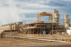 Geothermal power plant close-up Royalty Free Stock Photography