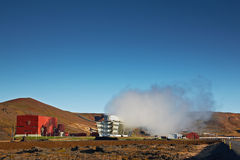 Geothermal Power Plant, Iceland Stock Images