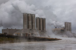 Geothermal power plant, Iceland. Geothermal energy plant located at Reykjanes peninsula in Iceland stock photography