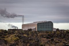 Geothermal Power Plant Royalty Free Stock Photography