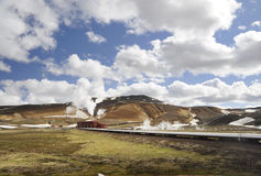 Geothermal power plant in Iceland Stock Photos
