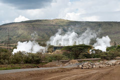 geothermal power plant in Kenya Stock Photos
