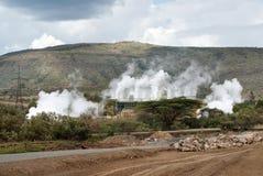 geothermal power plant in Kenya Stock Photos
