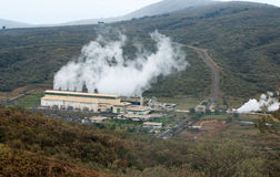 Geothermal power plant in Kenya Stock Image