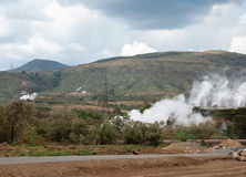 Geothermal power plant in Kenya Stock Photography