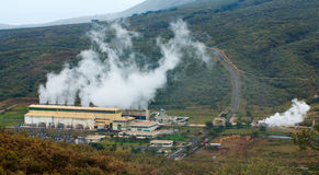 Geothermal power plant in Kenya Royalty Free Stock Photo