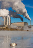 Geothermal Power Plant. Photo of geothermal power plant located at Reykjanes peninsula in iceland stock photos