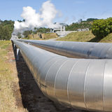 Geothermal power plant pipeline Royalty Free Stock Photography