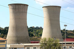 Geothermal power production, Larderello, Tuscany Stock Photos