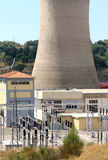 Geothermal power production, Larderello in Tuscany Royalty Free Stock Image