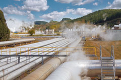 Geothermal power station Royalty Free Stock Photos