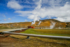Geothermal power station Royalty Free Stock Photo