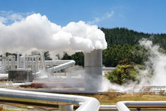 Geothermal power station alternative energy Stock Photos