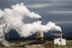 Geothermal power station Stock Photography