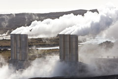 Geothermal Power Station in Iceland Royalty Free Stock Photos