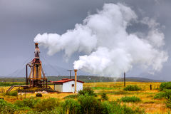 Geothermal power Royalty Free Stock Images