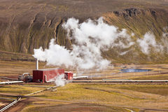 Geothermal Power Station in Iceland Stock Photography