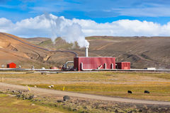 Geothermal Power Station in Iceland Royalty Free Stock Photo