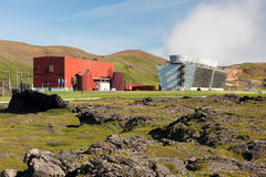 Geothermal power station Stock Photo
