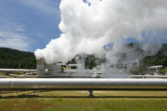 Geothermal power station near the Wairakei Geothermal Field in New Zealand Royalty Free Stock Photos