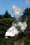 Geothermal Power Station in New Zealand Stock Image