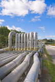Geothermal power station pipes Stock Images