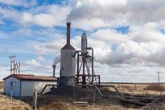 Geothermal powerplant Stock Photos