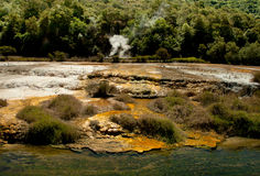 Geothermal Silica build-up Royalty Free Stock Images