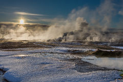 Geothermal Smoke Royalty Free Stock Image